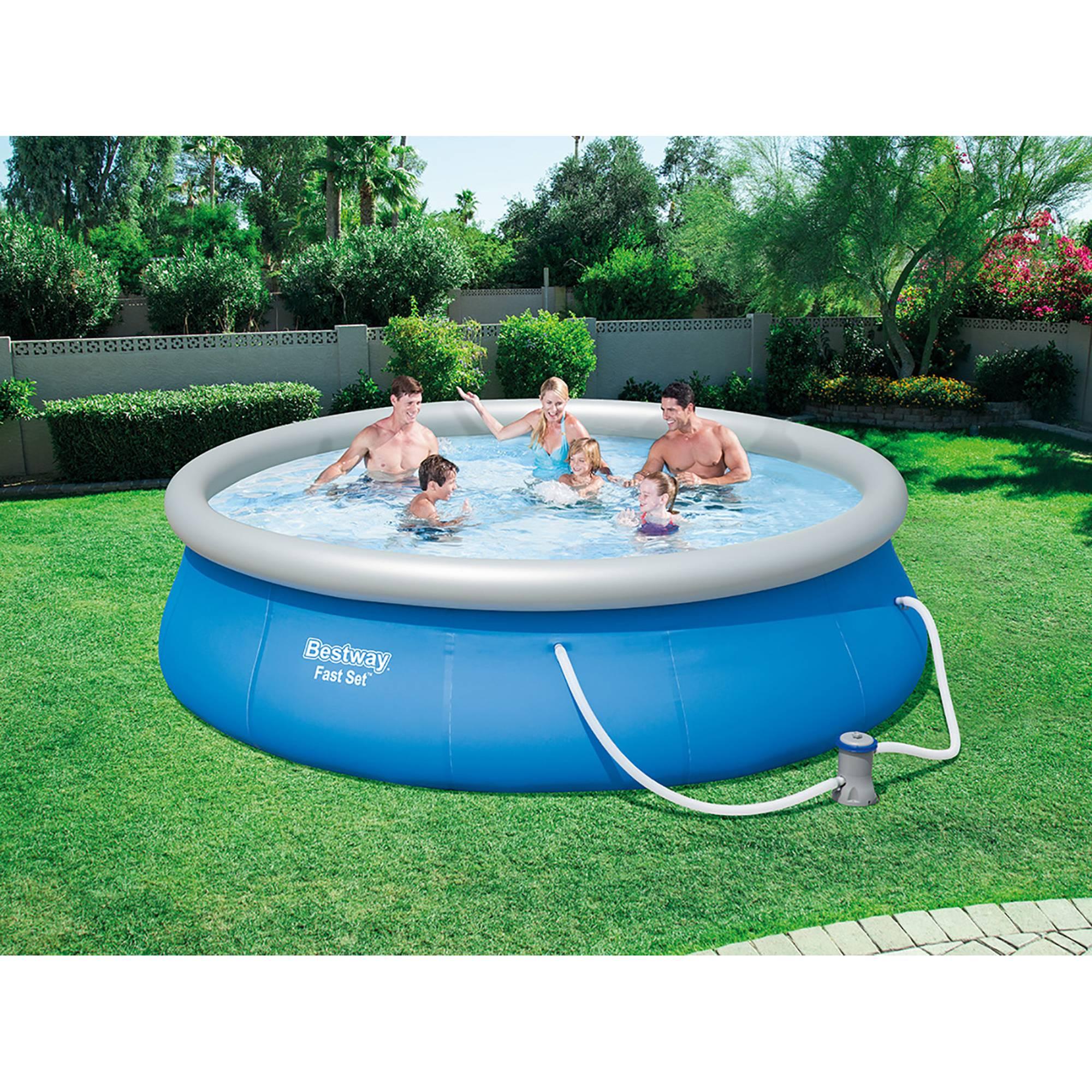 quick up pool set 396x84 cm mit kartuschenfilteranlage von bestway ebay. Black Bedroom Furniture Sets. Home Design Ideas